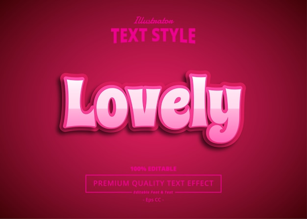 Lovely  text effect