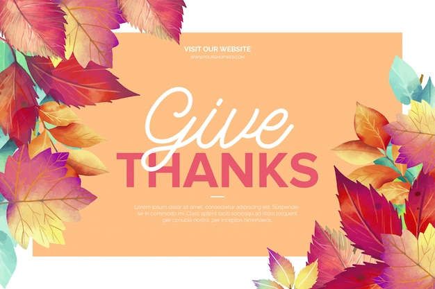 Lovely thanksgiving day greeting card