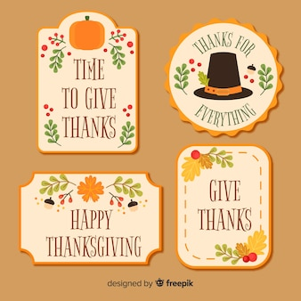 Lovely thanksgiving day label collection