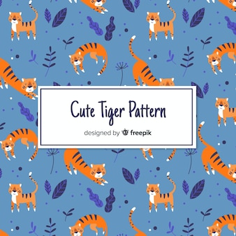 Lovely tiger character pattern