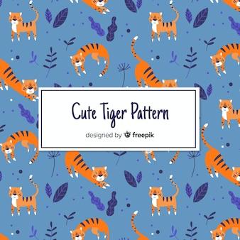 Modello di carattere incantevole tigre
