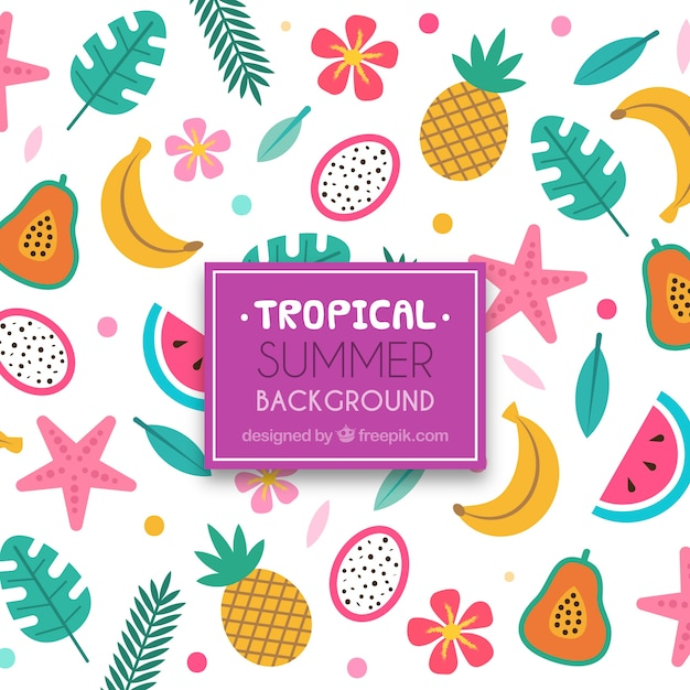 Free Lovely Tropical Background With Flat Design Svg Dxf Eps Png Best Free Svg Cut Files