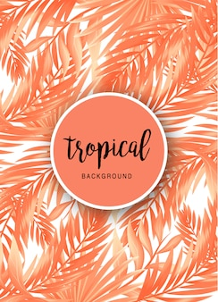 Lovely tropical background