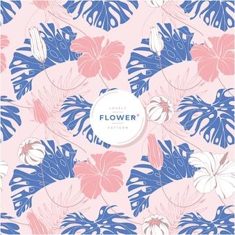 Lovely tropical flower pattern design