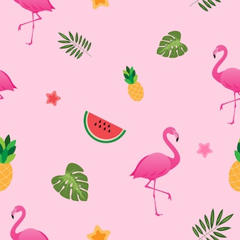 Lovely tropical summer pattern seamless