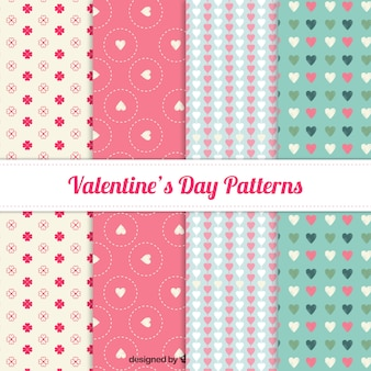 Lovely valentine day pattern collection Premium Vector