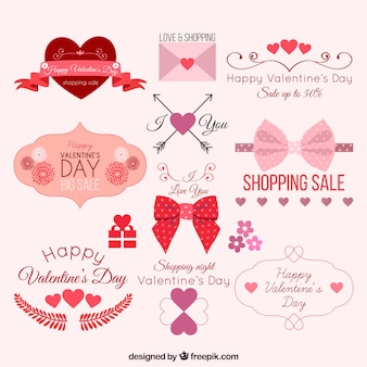 Lovely valentine elements pack
