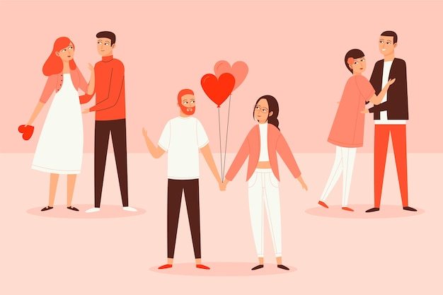 사랑스러운 발렌타인 커플 팩