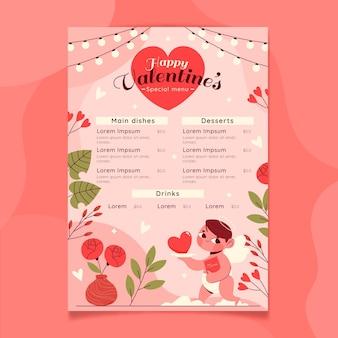 Lovely valentine's day menu