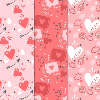 Lovely valentine's day pattern collection