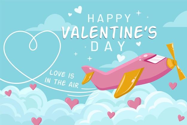 ヴィンテージカラーの素敵なバレンタインデーの壁紙