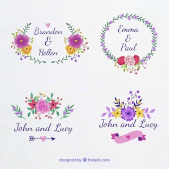 Lovely variety of floral labels