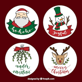 Lovely variety of hand drawn christmas labels