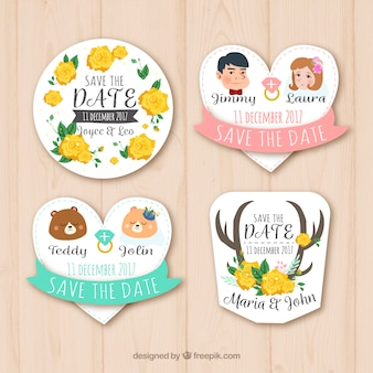 Lovely variety of wedding labels