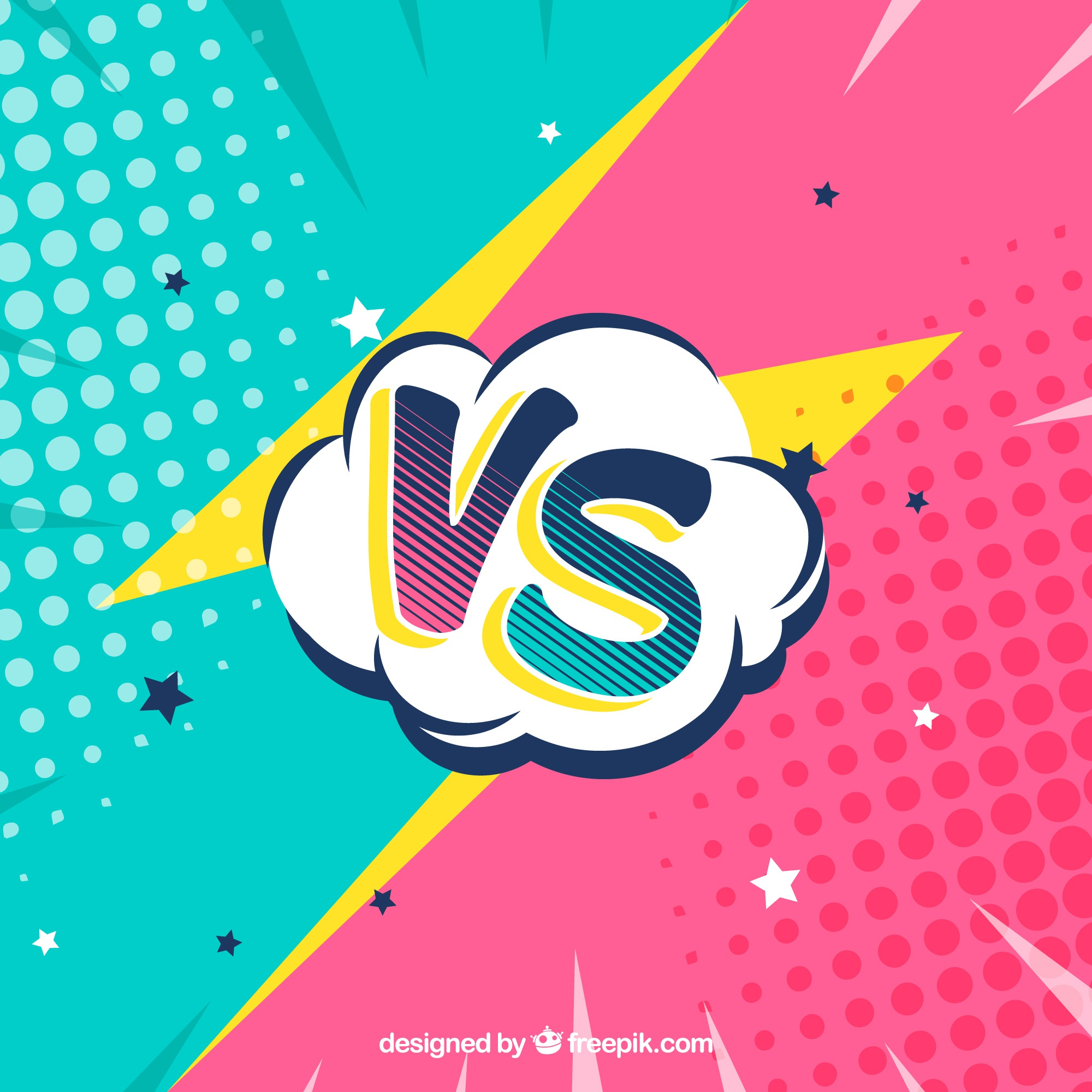 Lovely versus background with fun style