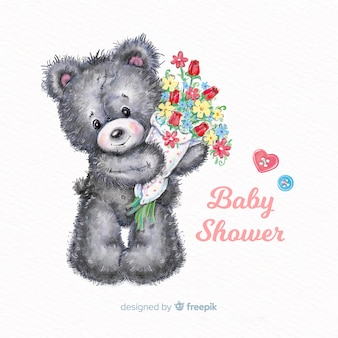 Lovely watercolor baby shower design