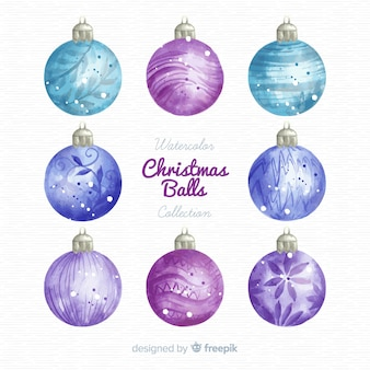 Lovely watercolor christmas ball collection