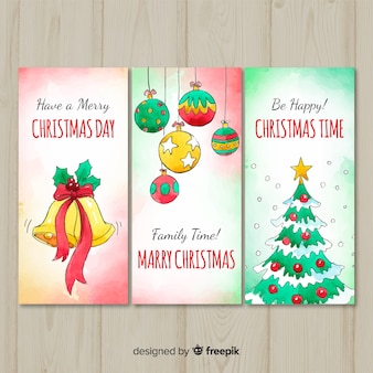 Lovely watercolor christmas card collection