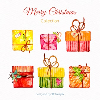 Lovely watercolor christmas gift collection