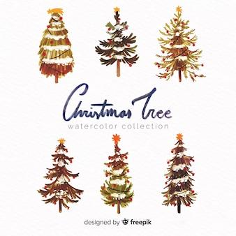 素敵な水彩クリスマスツリーコレクション