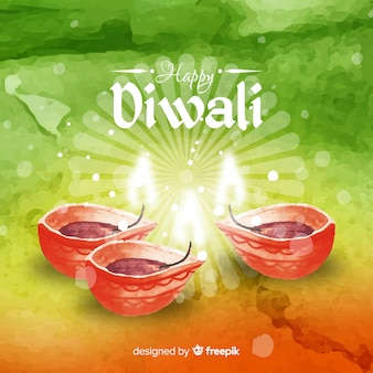 Lovely watercolor diwali background
