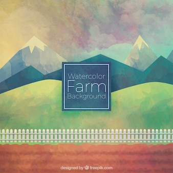 Lovely watercolor farm background