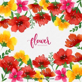素敵な水彩の花の背景