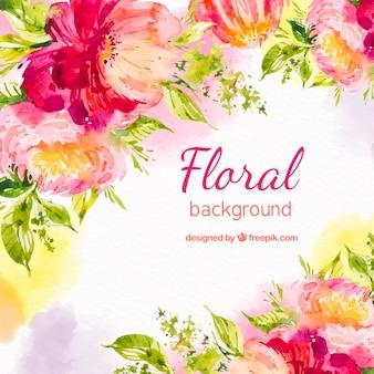 Прекрасный акварельный цветочный фон