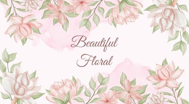 素敵な水彩花の背景
