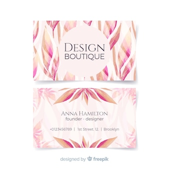 Lovely watercolor floral business card