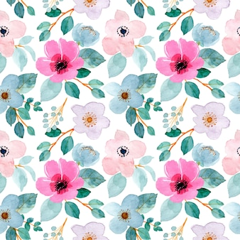 Lovely watercolor floral seamless pattern