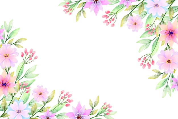 Lovely watercolor flowers background