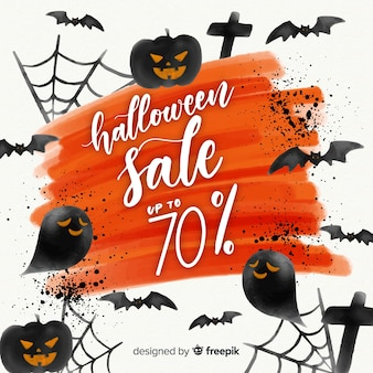 Lovely watercolor halloween sale composition