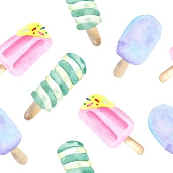 Прекрасные акварельные мороженые