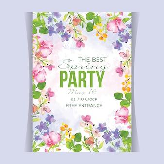 Прекрасный акварельный весенний плакат