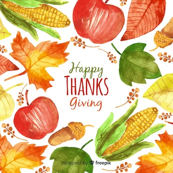 Lovely watercolor thanksgiving background