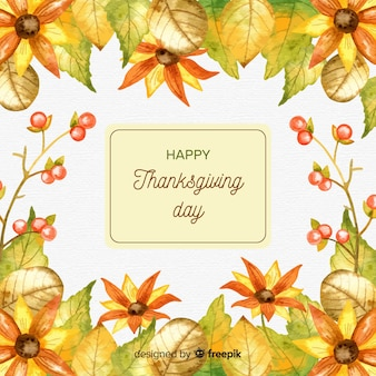 Lovely watercolor thanksgiving day background