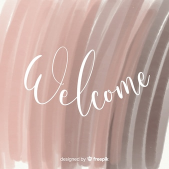Lovely watercolor welcome composition