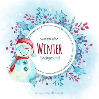Lovely watercolor winter background