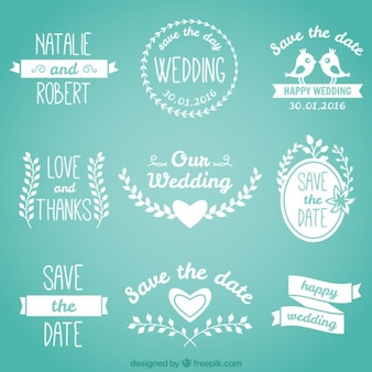 Lovely wedding badges in white color