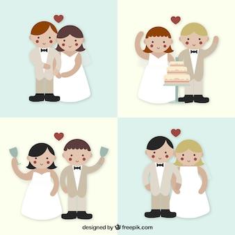 Lovely wedding couples pack