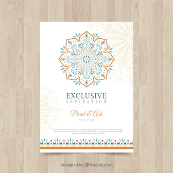 Islamic vectors photos and psd files free download lovely wedding invitation template with colorful mandala stopboris Images