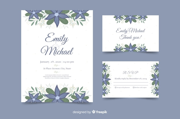 Lovely wedding invitation template