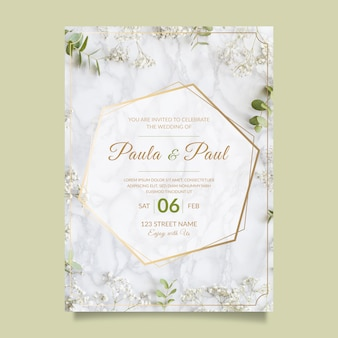 Lovely wedding invitation with photo