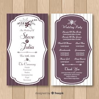 Lovely wedding program with elegant style