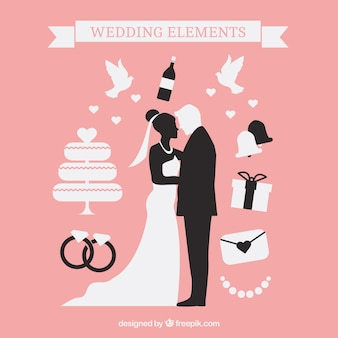 Lovely wedding silhouettes