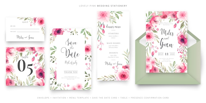Lovely wedding stationery collection