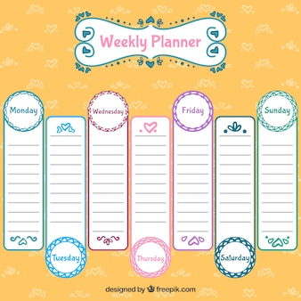 Lovely weekly planner design