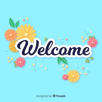 Lovely welcome composition with origami style