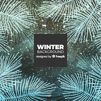 Прекрасный зимний фон с элегантным стилем Бесплатные векторы